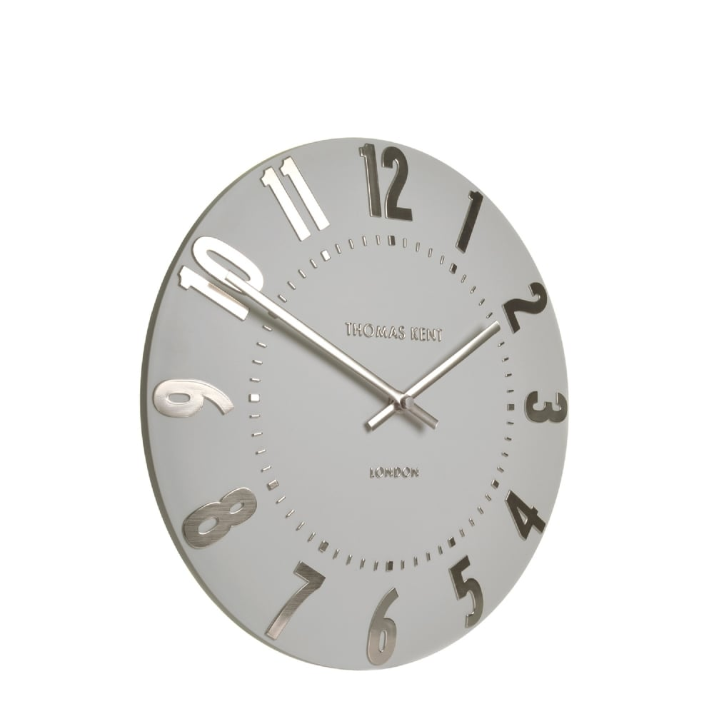 Thomas kent mulberry wall clock silver cloud black by design mulberry wall clock silver cloud amipublicfo Image collections