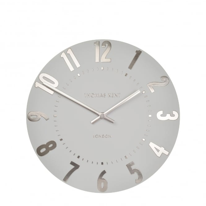 Thomas Kent Mulberry Wall Clock - Silver Cloud