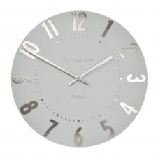 Mulberry Wall Clock - Silver Cloud