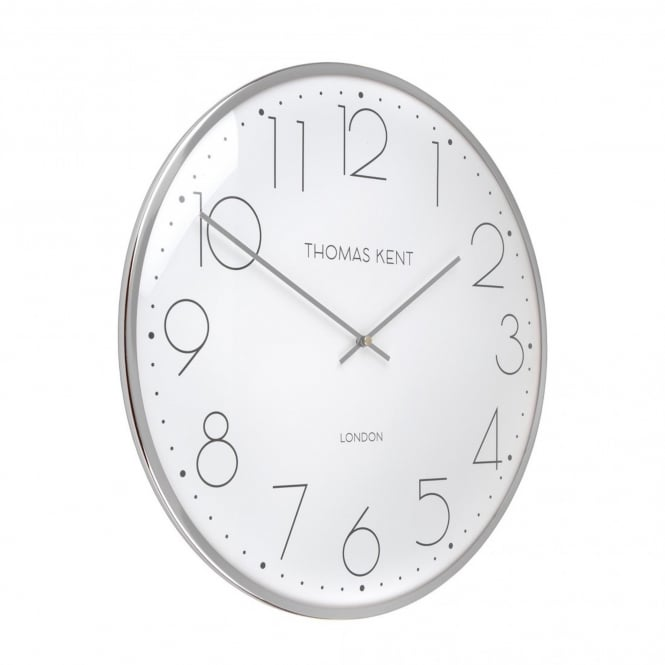 Thomas Kent Oyster Wall Clock - 40cm - Silver