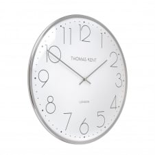 Oyster Wall Clock - 40cm - Silver