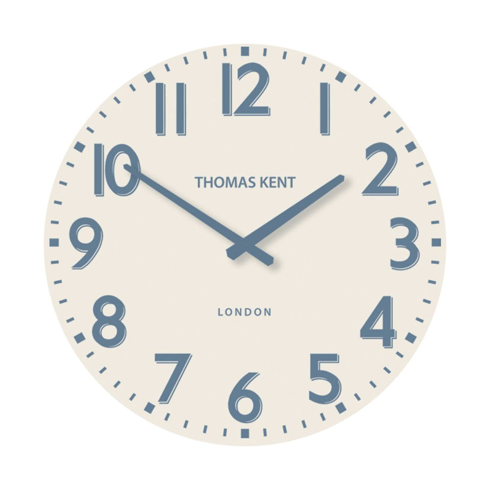 Thomas Kent Pimlico Wall Clock 15 Regatta Blue Black By Design