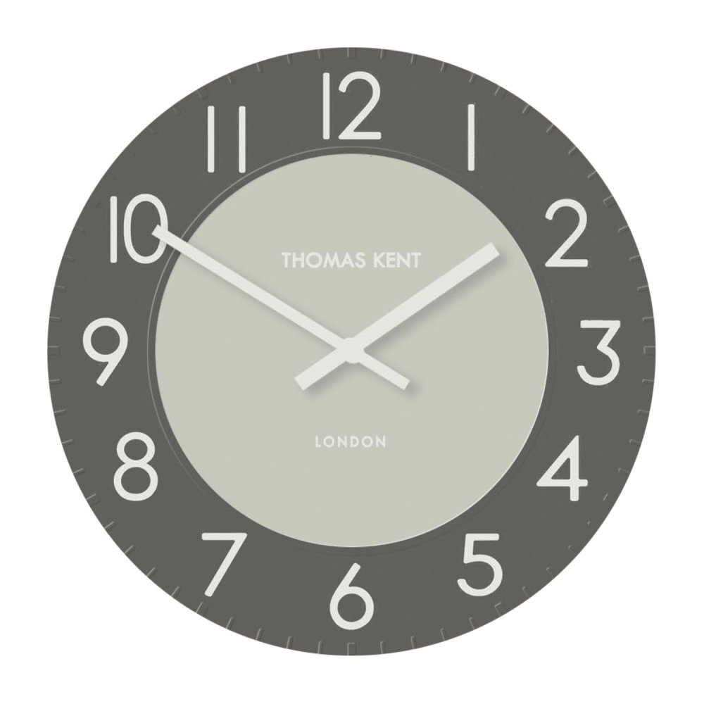 Thomas Kent Townhouse Wall Clock 20 Graphite Black By Design