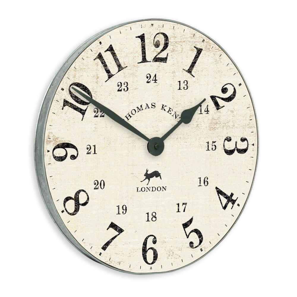 Thomas Kent Wharf Wall Clock 38cm Chalk Black By Design