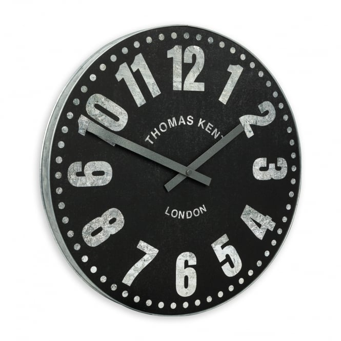 Thomas Kent Wharf Wall Clock - 38cm - Charcoal