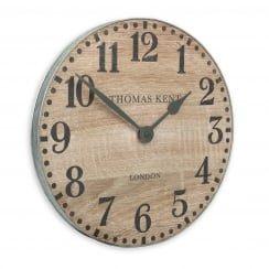 Wharf Wall Clock - 38cm - Soaped Oak