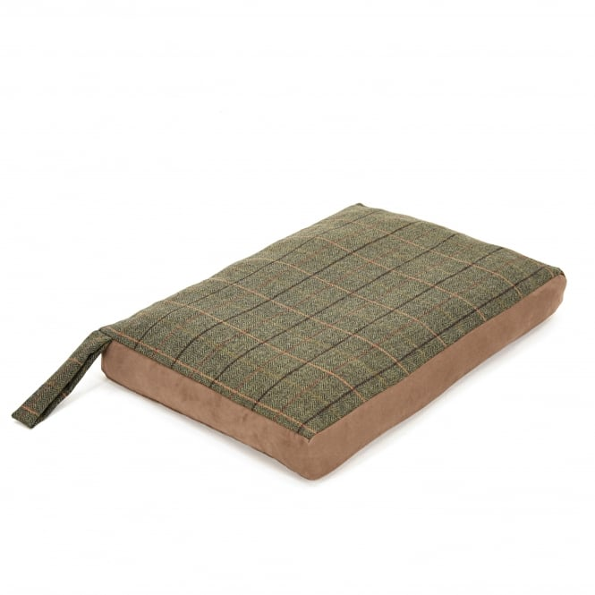 Tweedmill Dog Bed with Suede Base - Tweed 12/Chocolate