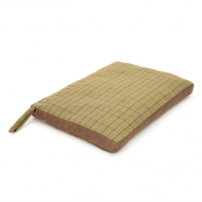 Tweedmill Dog Bed with Suede Base - Tweed 922/Chocolate