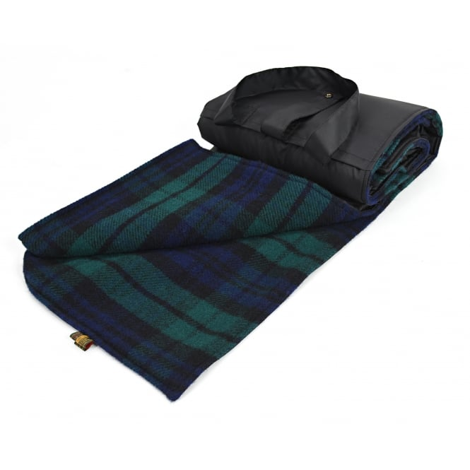 Tweedmill Eventer Pure New Wool Picnic Blanket - Blackwatch - Large