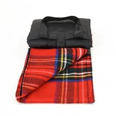 Eventer Pure New Wool Picnic Blanket - Royal Stewart Tartan/Black