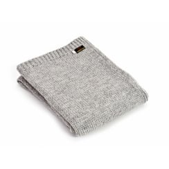 Knitted Alpaca Mix Throw - Grey