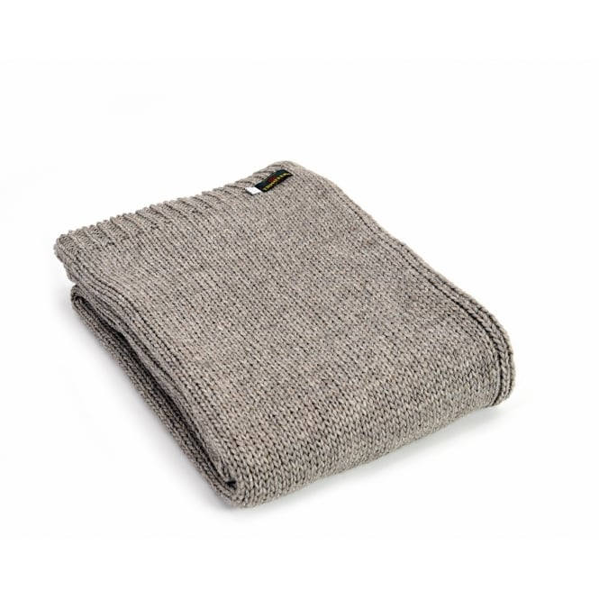 Tweedmill Knitted Alpaca Mix Throw - Natural