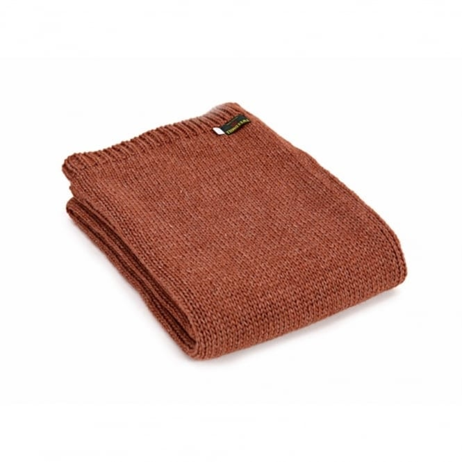 Tweedmill Knitted Alpaca Mix Throw - Sandstone