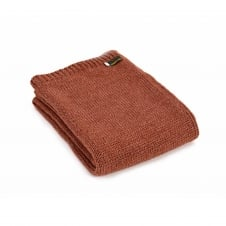 Knitted Alpaca Mix Throw - Sandstone