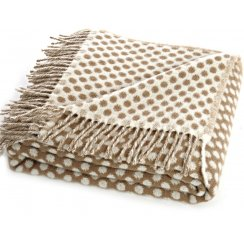 Natural Lambswool Reversible Spot Throw - Caramel