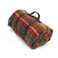 Polo Picnic Rug with Waterproof Backing & Leather Straps - Antique Buchanan