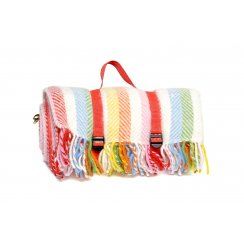 Polo Picnic Rug with Waterproof Backing - Rainbow Stripe
