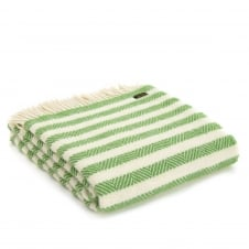 Pure New Wool Apple Sour Stripe Throw