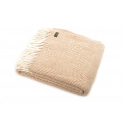 Pure New Wool Beehive Throw - Beige