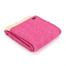 Pure New Wool Beehive Throw - Cerise Pink
