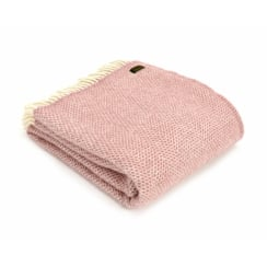Pure New Wool Beehive Throw - Dusky Pink