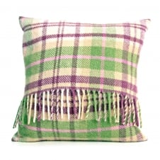 Pure New Wool Check Cushion - Cottage Pink 40cm x 40cm