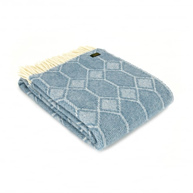 Tweedmill Pure New Wool Churchpane Throw - Petrol