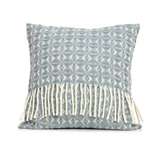Pure New Wool Cobweave Cushion - Duck Egg
