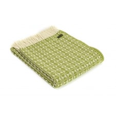 Pure New Wool Cobweave Throw - Cosy Green
