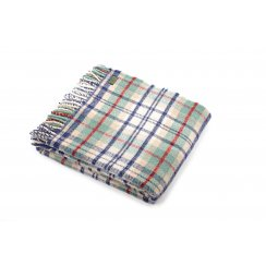 Pure New Wool Cottage Coastal Check Throw