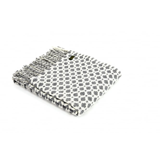 Tweedmill Pure New Wool Crossroads Throw - Grey