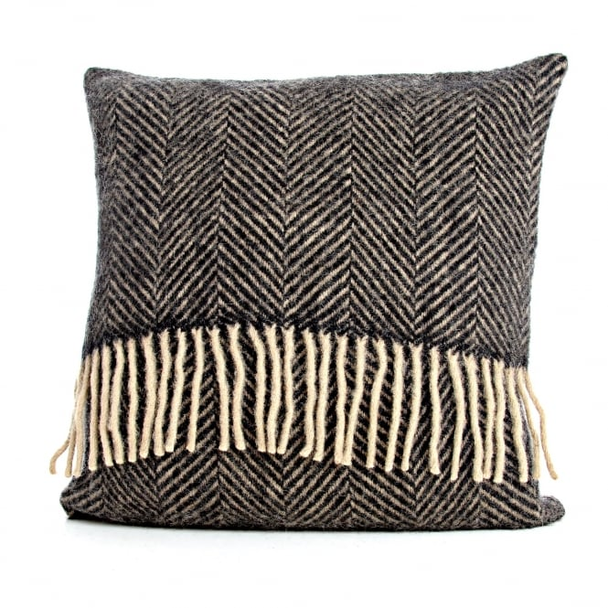 Tweedmill Pure New Wool Herringbone Cushion - Vintage 40cm x 40cm