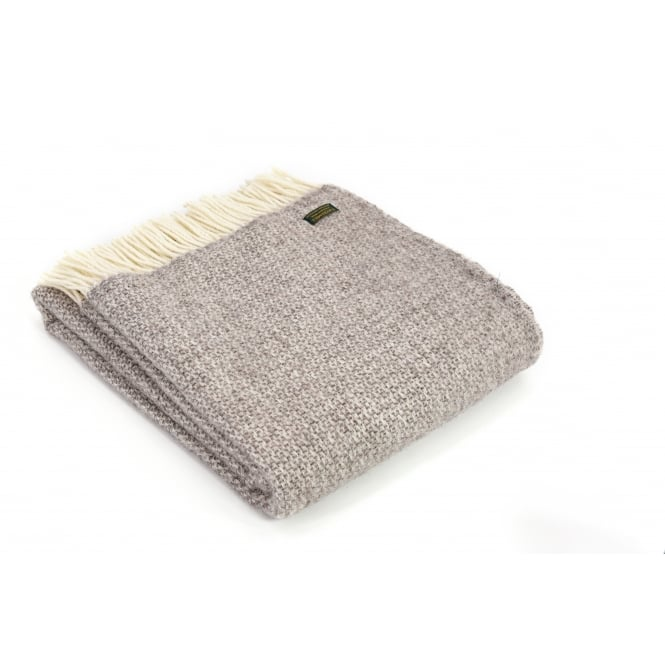 Tweedmill Pure New Wool Illusion Throw - Natural
