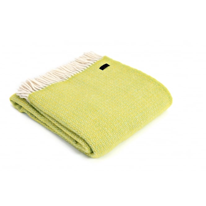 Tweedmill Pure New Wool Illusion Throw - Zest