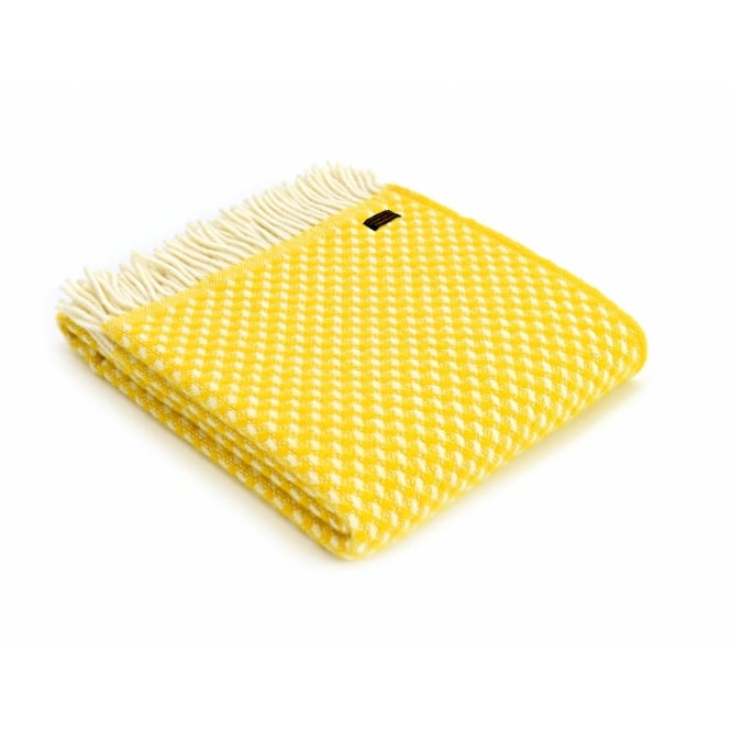 Tweedmill Pure New Wool Twill Throw - Yellow