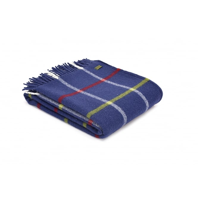 Tweedmill Pure New Wool Windowpane Check Throw - Christmas