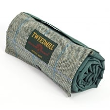 Walker Companion Tweed Picnic Rug with Waterproof Backing - Green