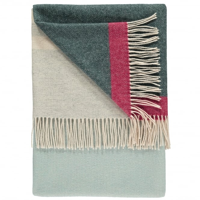 Twig Eloise Blue Fjord Luxury 100% Lambswool Throw