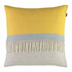Luxury 100% Lambswool Square Cushion - Sulphur