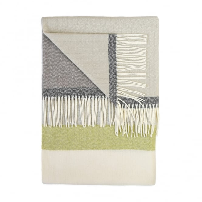 Twig Luxury 100% Lambswool Throw - Botanic