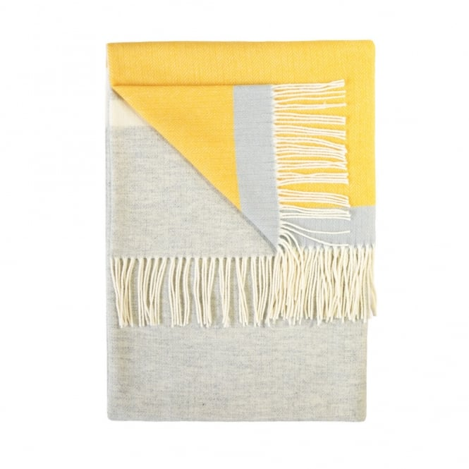Twig Luxury 100% Lambswool Throw - Sulphur
