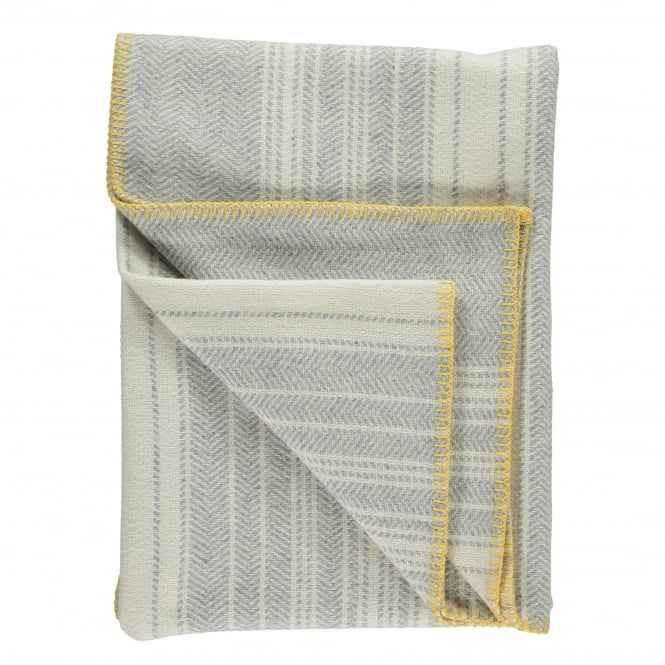 Twig Runa Pearl Grey Lambswool and Cashmere Blend Throw
