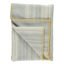Runa Pearl Grey Lambswool and Cashmere Blend Throw