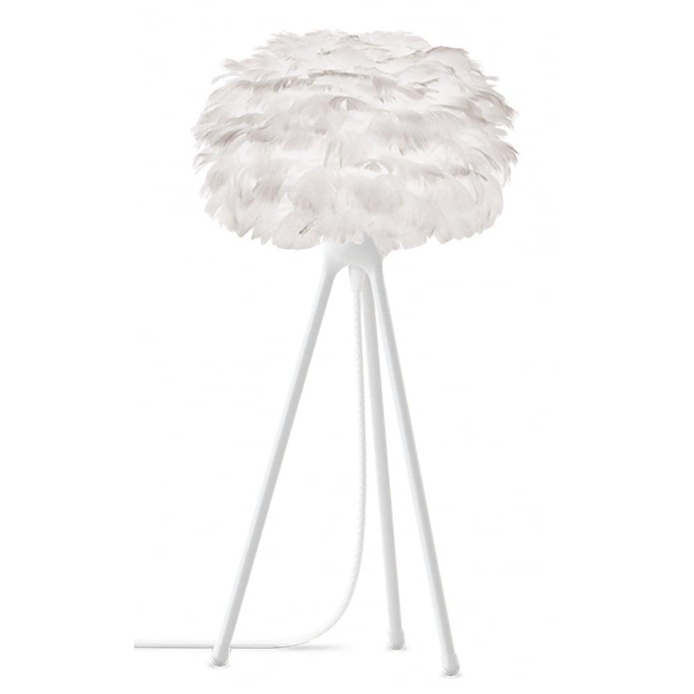 Umage White Feather Eos Micro White Tripod Table Lamp