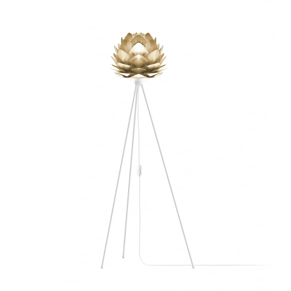 timeless design 3a5a1 9f028 Umage Silvia Tripod Floor Lamp - Brushed Brass Silvia Mini/White Tripod