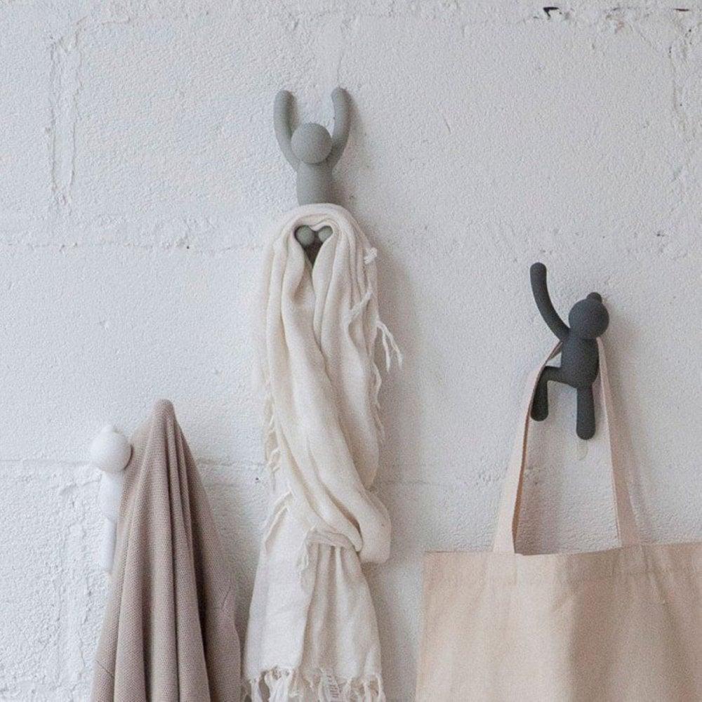Buddy Hooks Umbra.Buddy Wall Coat Hooks Set Of 3 Grey Assorted