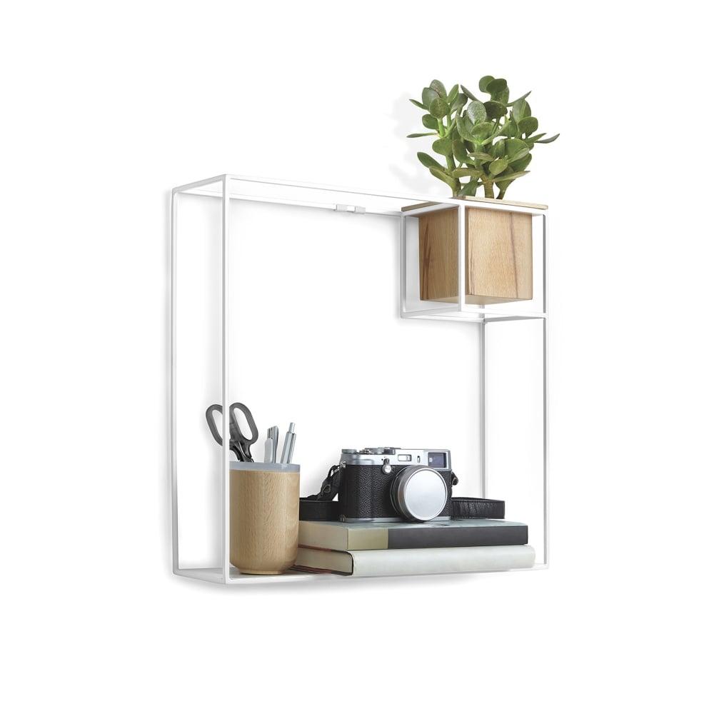 Umbra Cubist Floating Display Shelf Large White