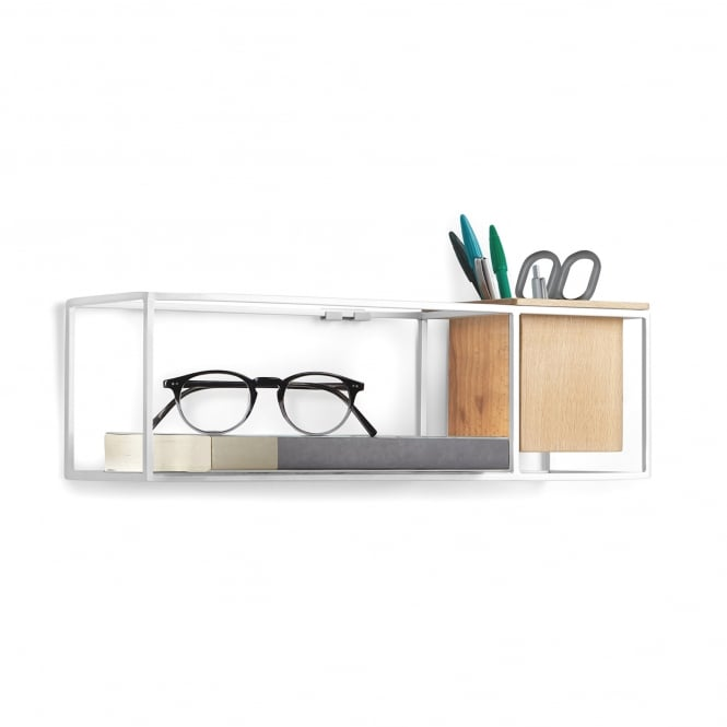 Umbra Cubist Floating Display Shelf - Small - White
