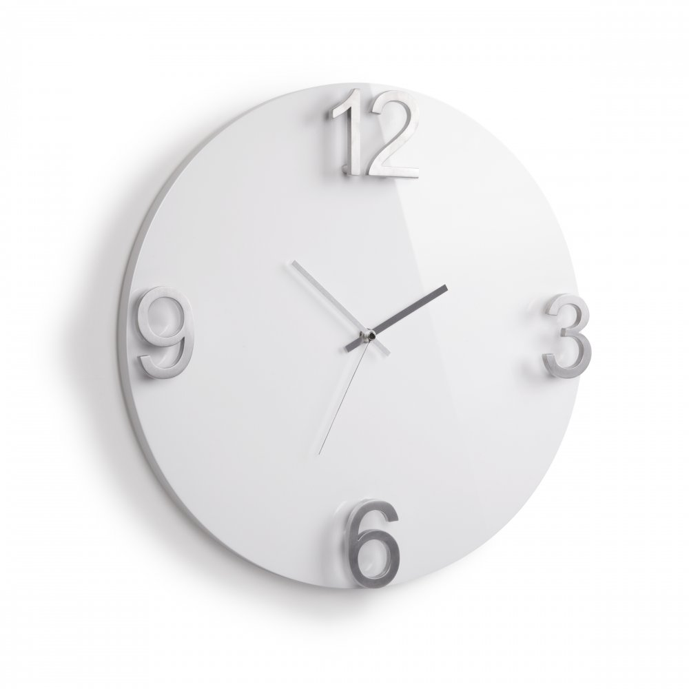 Umbra Elapse Wall Clock High Gloss White Black By Design
