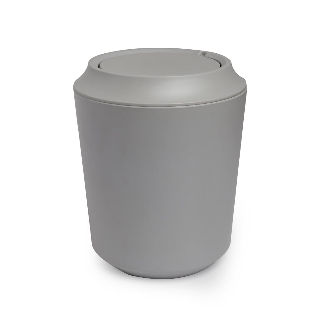 umbra fiboo bathroom waste bin grey black by design